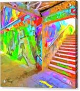 London Graffiti Pop Art Acrylic Print