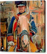 London Guard On Horse Acrylic Print