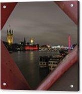 London In My Window Acrylic Print