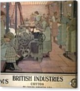 London Midland And Scottish Railway, British Industries - Retro Travel Poster - Vintage Poster Acrylic Print
