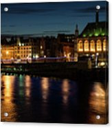 London Night Magic - Colorful Reflections On The Thames River Acrylic Print