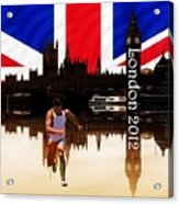London Olympics 2012 Acrylic Print by Sharon Lisa Clarke