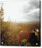 London Partialy Cloudy With A Chance Of Flare Acrylic Print
