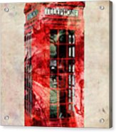 London Phone Box Urban Art Acrylic Print