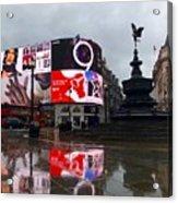 London Piccadilly On A Rainy Day Acrylic Print