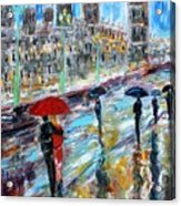 London Rainy Evening Acrylic Print