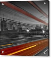 London Red Bus Acrylic Print by Melanie Viola