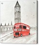 London Red Bus Acrylic Print