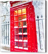 London Red Telephone Booth  Acrylic Print