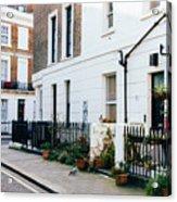 London Residential Street Acrylic Print