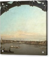 London Seen Through An Arch Of Westminster Bridge Acrylic Print