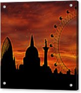 London Skyline At Dusk Acrylic Print
