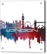 London Skyline City Blue Acrylic Print