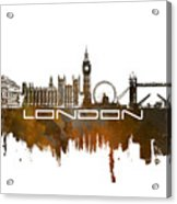 London Skyline City Brown Acrylic Print