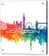 London Skyline City Color Acrylic Print