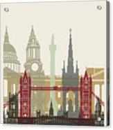 London Skyline Poster Acrylic Print