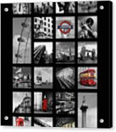 London Squares Acrylic Print