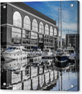 London. St. Katherine Dock. Reflections. Acrylic Print