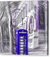 London Telephone Purple Blue Acrylic Print