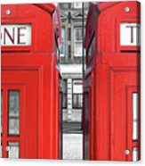 London Telephones Acrylic Print by Richard Newstead