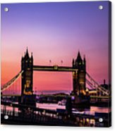 Tower Bridge, London. Acrylic Print