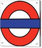 London Underground Blank Acrylic Print