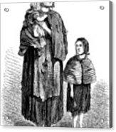 London, Vagrants, 1861 Acrylic Print