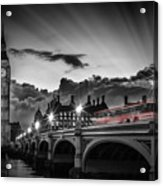 London Westminster Bridge At Sunset Acrylic Print