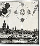 London With Eclipse Diagram, 1748 Acrylic Print
