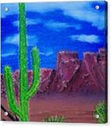 Lone Cactus Acrylic Print