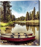 Lone Canoes, Winchester Lake Acrylic Print
