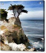 Lone Cypress Tree Pebble Beach  Acrylic Print