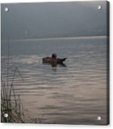 Lone Fisherman Lake Atitlan Acrylic Print