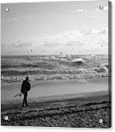 Lone Fisherman Acrylic Print