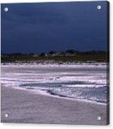 Lone Gull Awaits Storm Acrylic Print