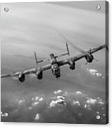 Lone Lancaster Black And White Version Acrylic Print