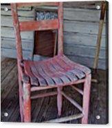 Lone Red Chair Acrylic Print