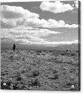 Lone Rider West Of Taos Acrylic Print