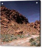 Lone Rock Road Overton Nevada  Acrylic Print