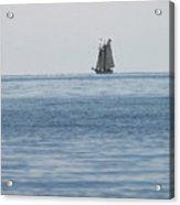 Lone Ship At Sea Acrylic Print