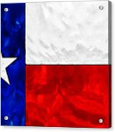 Lone Star Stained Glass Acrylic Print
