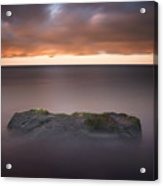 Lone Stone At Sunrise Acrylic Print