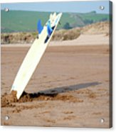 Lone Surfboard Acrylic Print