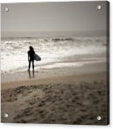 Lone Surfer II Acrylic Print