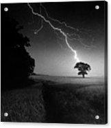 Lone Tree And Lightning Acrylic Print