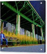 Loneliness In The City Acrylic Print