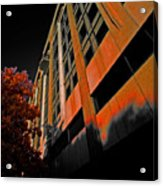 Lonely Balkony Infrared Color 80 Acrylic Print