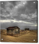 Lonely Beach Shacks Acrylic Print by Evelina Kremsdorf