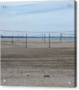 Lonely Beach Volleyball Acrylic Print