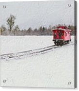 Lonely Caboose Acrylic Print